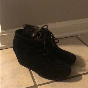 Toms wedge heels. Only worn once. Great condition